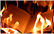 from burning books